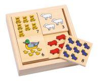 Dřevěné hračky - Školní pomůcky - Počítání Zvířata na statku