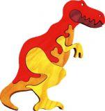 Dřevěné vkládací puzzle z masivu - Velký T-rex