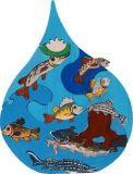 Fauna Dřevěné vkládací puzzle z masivu vodní svět Dunaj
