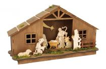 Small Foot Vánoční dekorace lampa betlém