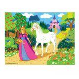 Dřevěné hračky Bigjigs Toys Dřevěné puzzle princezna 48 dílků