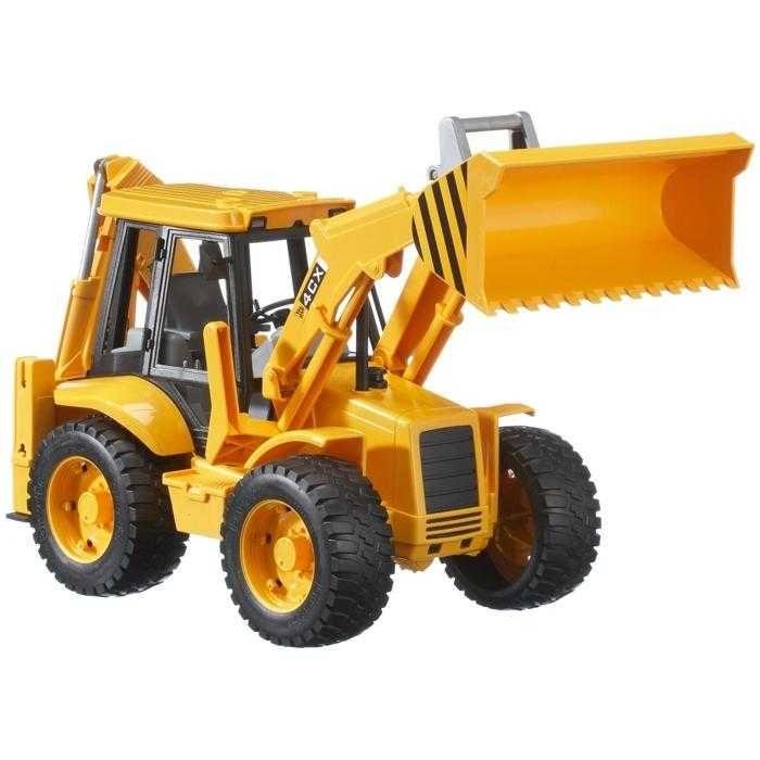 Dřevěné hračky Bruder - Traktor JCB - čelní nakladač + bagr