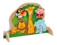 Dřevěná hračka - Provlékací deska Zvířata