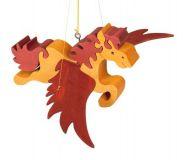 Dřevěné dekorace - Létající kůň na zavěšení