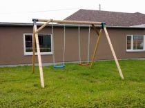 Dřevěné hračky Dřevěné dětské hřiště - Stavebnice dětská houpačka Bětka