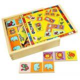 Dřevěné hračky Bigjigs Toys Dřevěné domino se zvířátky
