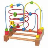 Dřevěné hračky - Motorický labyrint velký Beruška, kytka