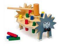 Dřevěné hračky pro kluky - Zatloukačka ježek