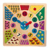 Dřevěné hračky - Vkládací výukové puzzle - Nauč se hodiny