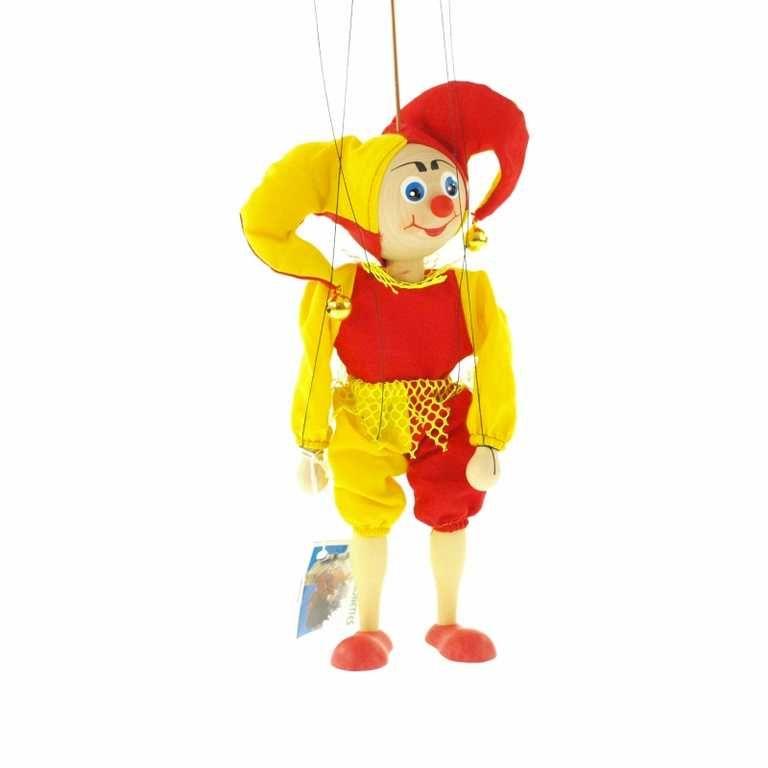 Dřevěné hračky Dřevěné velké loutky - Kašpárek Česká dřevěná hračka