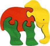 Fauna Dřevěné vkládací puzzle z masivu malý slon