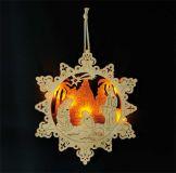 Vánoční dekorace - Lampa Jesličky ve hvězdě