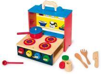 Small Foot Dětská dřevěná mobilní kuchyňka