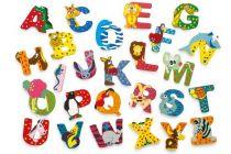 Dřevěná abecedy 1ks