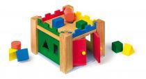 Dřevěná vkládačka - Vkládací dřevěný hrad