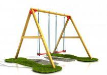 Dřevěné dětské hřiště - Stavebnice hřiště dvojhoupačka plus