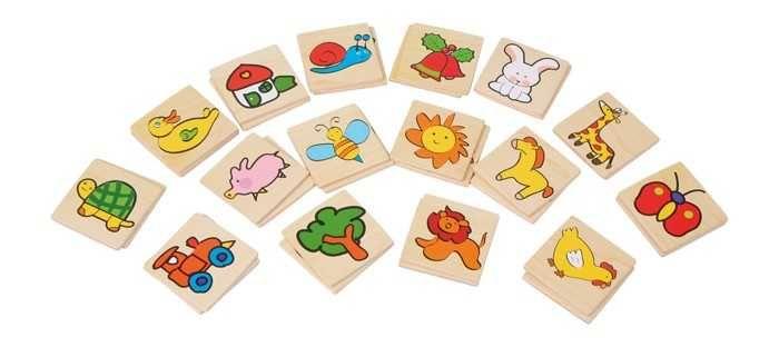 Dřevěné hračky Dřevěné hračky - dřevěné hry - Barevné pexeso Small foot by Legler