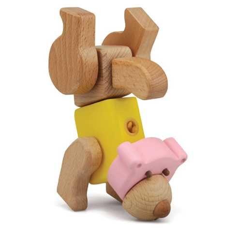 Dřevěné hračky Dřevěné hračky - Hravá stavebnice Moje ZOO - Medvěd My Zoo