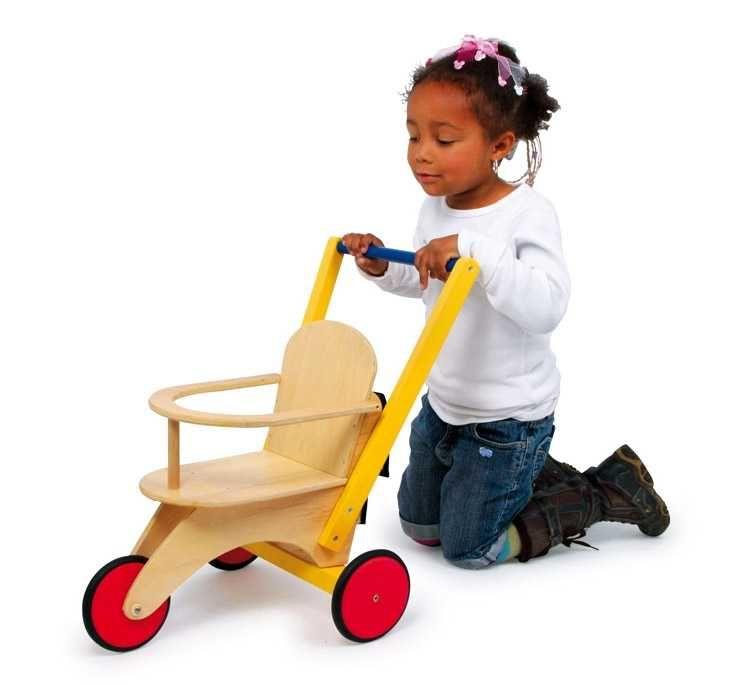 Dřevěné hračky Dřevěné hračky pro holky - Dřevěná tříkolka pro panenky Small foot by Legler