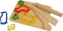 Dřevěné hračky Bigjigs Toys Pečící set s vykrajovátky
