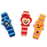 Dřevěné hračky Bigjigs Toys Dřevěné náramkové hodinky 1ks