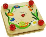 Dřevěné hračky Bigjigs Toys Dřevěný lis na květiny s beruškou