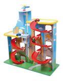 Dětská patrová dřevěná garáž
