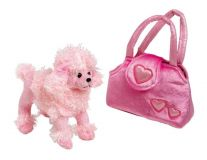 Dřevěné hračky Small Foot Dětská růžová kabelka pudl v kabelce Trixi Small foot by Legler