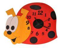 Dřevěné hračky DoDo Dětské dřevěné hodiny beruška