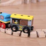 Dřevěné hračky Bigjigs Rail Vagónek se zbožím