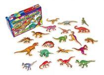 Small Foot dřevěné magnetky Dinosauři