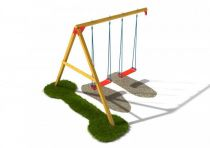 Dřevěné dětské hřiště - Stavebnice - Houpačkový modul plus