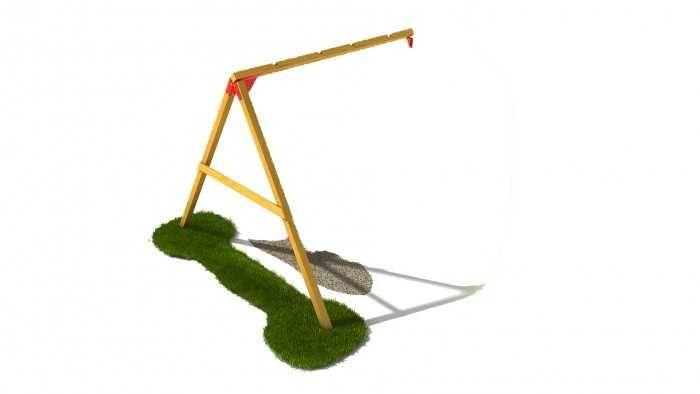 Dřevěné hračky Dřevěné dětské hřiště - Stavebnice - Modul houpačka