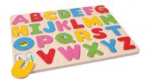 Dřevěné hračky - Puzzle Přiřazení písmen