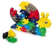 Dřevěné hračky - Vkládací Puzzle - Šnek