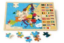 Small Foot Vkládací puzzle Evropské státy