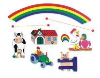 Dřevěné hračky Dřevěné hračky - Závěsný kolotoč - statek Mertens