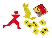 Small Foot Dřevěné hlavolamy tangram pro 2