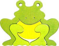 Dřevěné vkládací puzzle z masivu - Velká žába