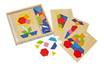 Dřevěný hlavolam - Hra - Dřevěná mozaika v krabičce