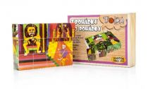 Obrázkové kostky - Z pohádky do pohádky 12 kostek v krabičce