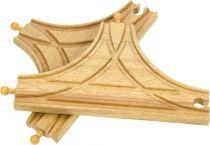 Dřevěné hračky Bigjigs Rail T výhybka 2ks