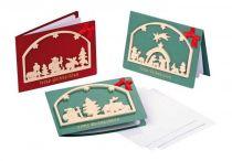 Vánoční dekorace - Pohlednice Vánoční období 1ks
