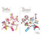 Dřevěné hračky Bigjigs Baby Textilní hračka pejsek Bruno s kousátky Bigjigs Toys