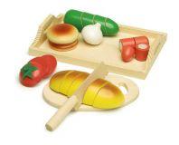 Small Foot Dřevěné hračky krájecí prkénko chléb