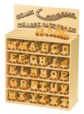 Dřevěný vláček vláčkodráhy abeceda 1ks vagónku -