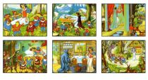 Dřevěné hračky Dřevěné obrázkové kostky kubusy - Sněhurka 12 kostek Topa