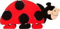 Fauna Dřevěné vkládací puzzle z masivu velká beruška