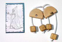 Dřevěný hlavolam - Náušnice Bílé paní