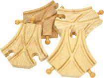 Dřevěné hračky Bigjigs Rail Symetrická výhybka 4ks